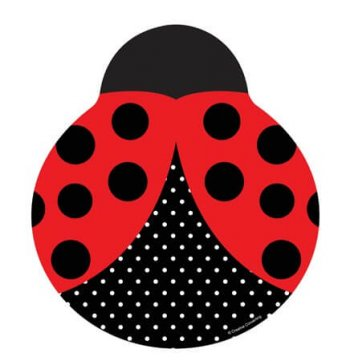 "Lady Bug Shaped Plates 9"" - 8CT-0"