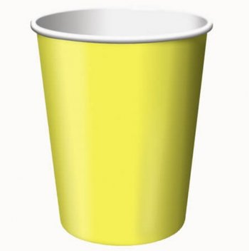 9oz Mimosa Yellow Paper Cups - 24CT-0