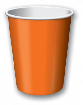 9oz Sun Kissed Orange Paper Cups - 24CT-0