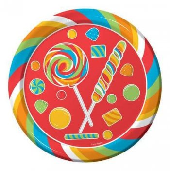 Sugar Candy Plates 8.75' - 8CT-0