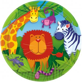 """9"""" Lunch Plates Jungle Animal-0"""