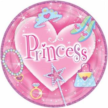 """9"""" Lunch Plates Prismatic Princess - 8PC-0"""