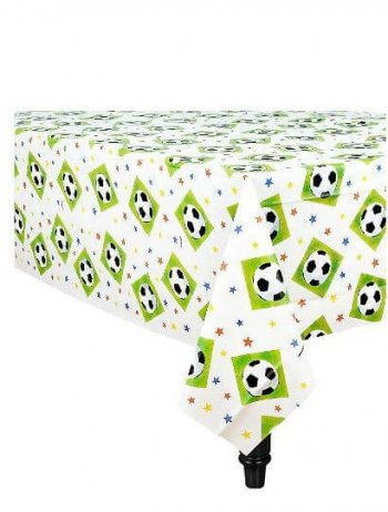 "Soccer Party Plastic Tablecover - 54"" x 102""-0"