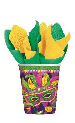 Masquerade Party 9oz Paper Cups - 8ct-0