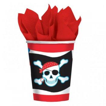 Pirate Party 9oz Paper Cups - 8ct-0