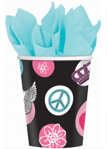 Rocker Princess 9oz Paper Cups - 8ct-0