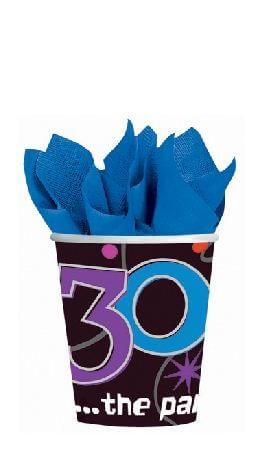 30th Birthday 9oz Paper Cups - 8ct-0