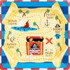 """10"""" Square Plate Pirate Party-0"""