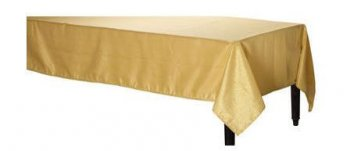 Tablecover Plastic Rectangular Golden - 54x108-0