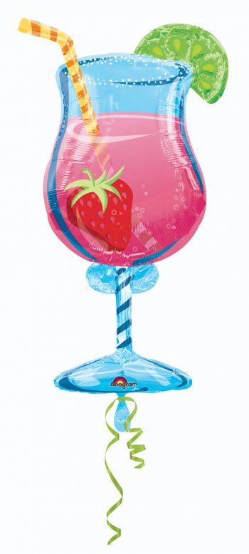 "Tropical Cooler Shape Foil Balloons 35"" P35-0"
