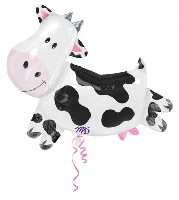 Black & White Cow Super Shape Balloons 30in P35-0
