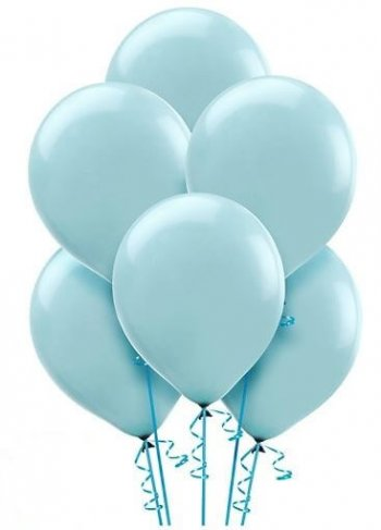 "12"" Light Blue Latex Balloons - 10CT-0"