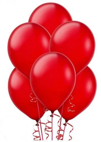 "12"" Red Latex Balloons - 10CT-0"