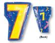 "18"" Xl: 7 Multi-Color Balloons S60 -0"