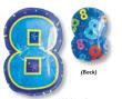 "18"" Xl: 8 Multi-Color Balloons S60 -0"