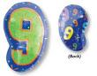 "18"" Xl: 9 Multi-Color Balloons S60 -0"