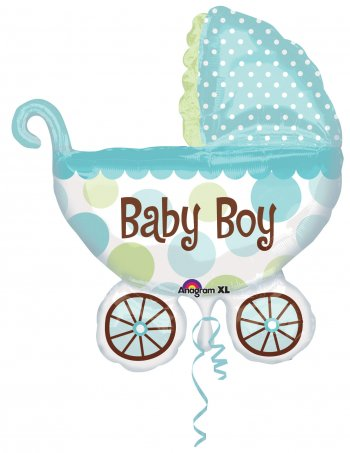 Baby Buggy Boy Super Shape Balloons 31in P35-0