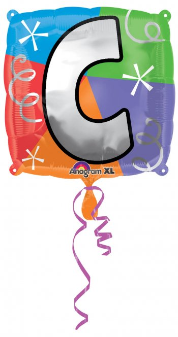 """18"""" Square Letter C Balloons S30 -0"""