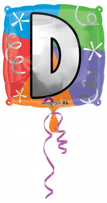 """18"""" Square Letter D Balloons S30 -0"""