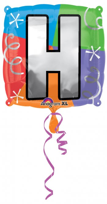 """18"""" Square Letter H Balloons S30 -0"""