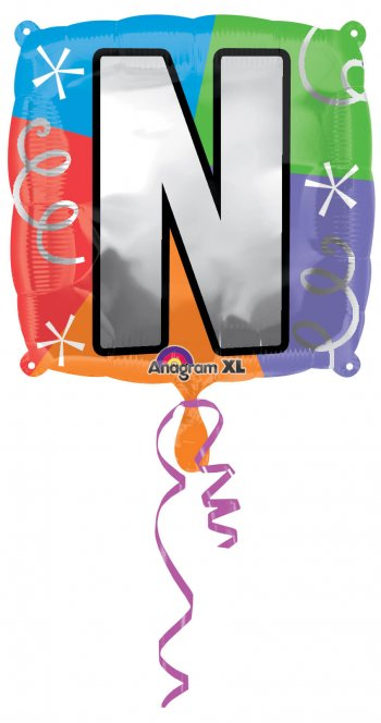 """18"""" Square Letter N Balloons S30 -0"""
