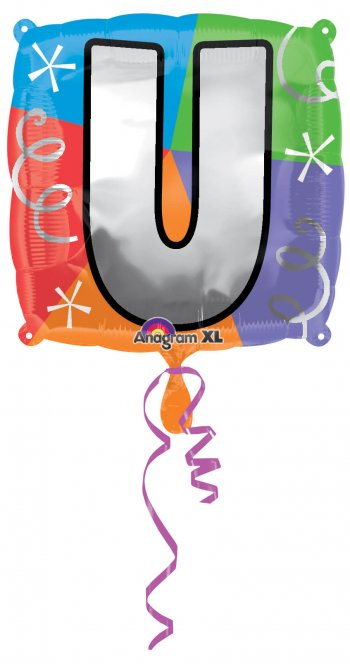 """18"""" Square Letter U Balloons S30 -0"""