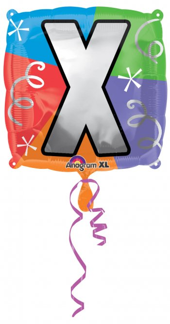 """18"""" Square Letter X Balloons S30 -0"""