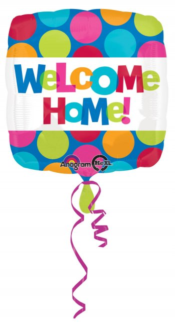 Welcome Home Balloons 18in Sqaure S40 -0