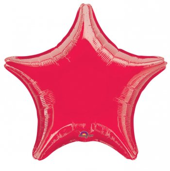 Foil Red Star Balloons 19in S15-0