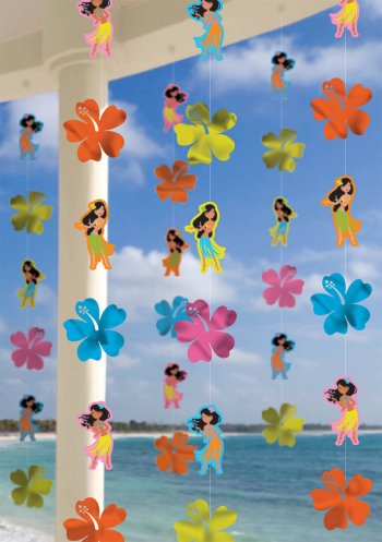 String Decoration Hula Girl 7ft - 6ct-0