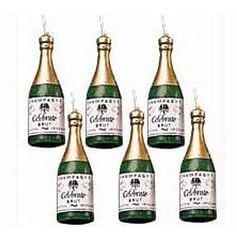Champagne Bottle Candles Small-0