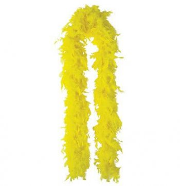 "Feather Boa Yellow 72""-0"