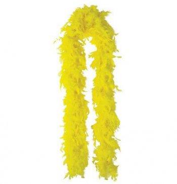 "Feather Boa Yellow 72""-0"