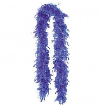 """Feather Boa Blue 72""""-0"""
