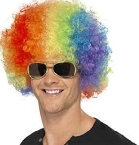 Multi Colored Afro Wigs-0
