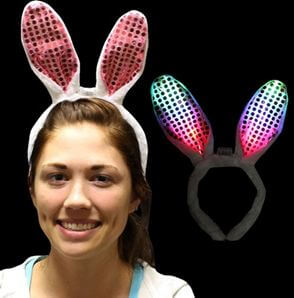 Light Up Bunny Ears-0