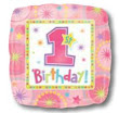"18"" Square One-Derful Birthday Girl Balloons S40-0"