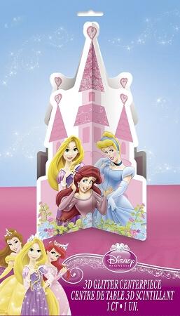 3D Glitter Centerpiece Princess-0