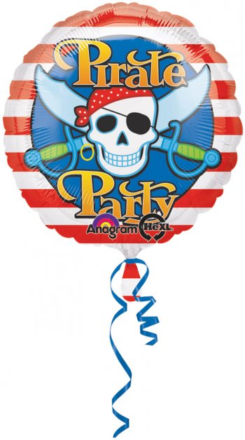 "18"" Pirate Party Balloons S40 -0"