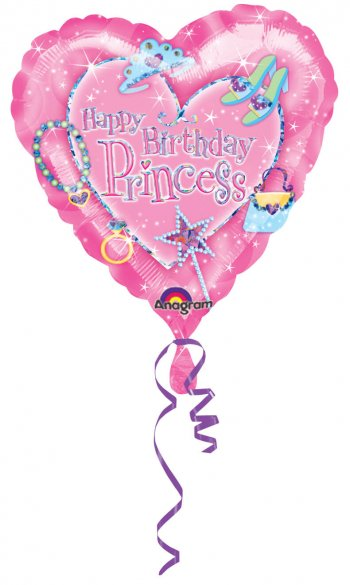 Princess Birthday Prismatic Balloons 18in S60-0