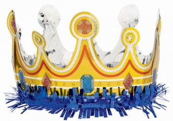 "Fringed Foil Birthday Crown 25""-0"