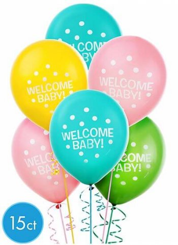 Welcome Home Polka Balloons - 15CT-0