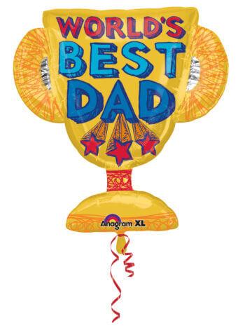 """26"""" World's Best Dad Trophy XL P30-0"""