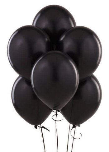 "8"" Black Latex Balloons -20ct-0"