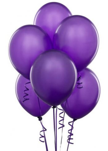 "8"" Purple Latex Balloons -20ct-0"