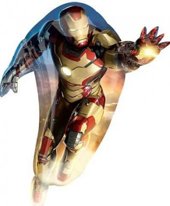 "Iron Man Super Shape Foil Balloons 42""-0"
