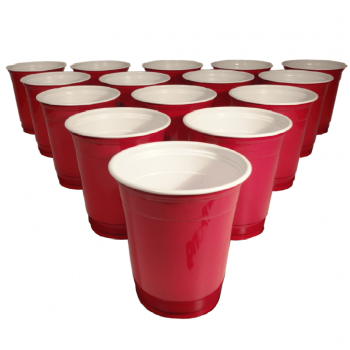 Beer Pong Red Plastic Cups - 20PC-0
