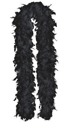 "Feather Black Boa 72""-0"
