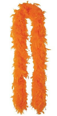 "Feather Boa Orange 72""-0"