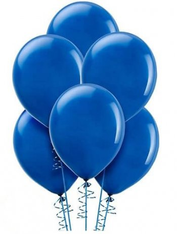 "12"" Royal Blue Latex Balloons - 10CT-0"